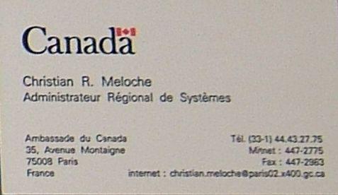 Christian R Meloche Cv